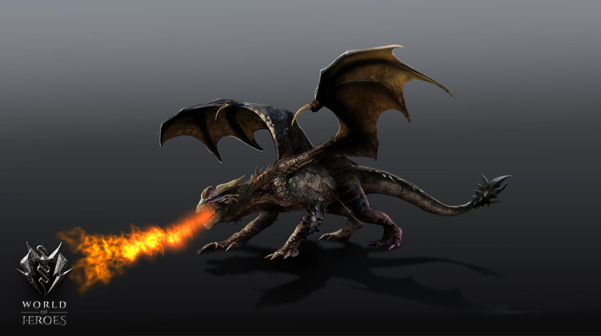 Dragon flying1